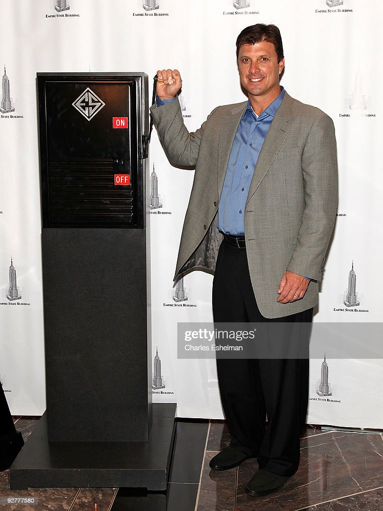 Tino Martinez Lights The Empire State Building Blue And White