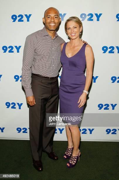 Former New York Yankees Player Mariano Rivera and Amy Robach attend an evening with Mariano Rivera at 92nd Street Y on May 20, 2014 in New York City.