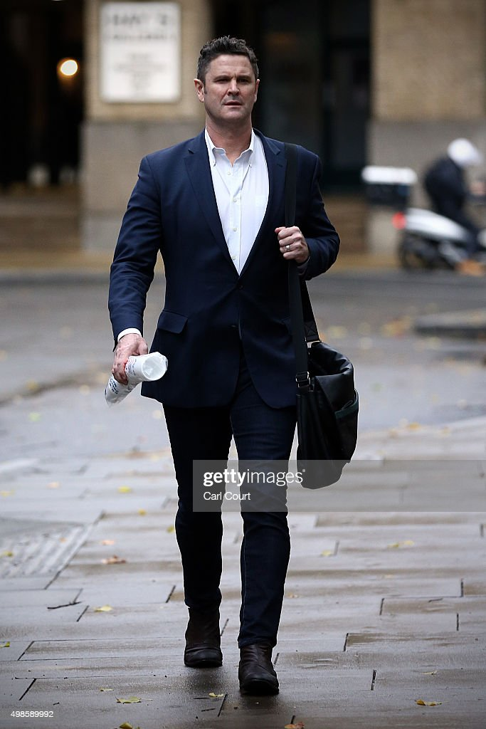 Former New Zealand cricketer Chris Cairns arrives at Southwark Crown Court on November 24, 2015 in London, England. Mr Cairns is currently in court on charges of perjury and perverting the course of justice while his Barrister Andrew Fitch-Holland denies one count of the criminal offence in preventing justice from being served.