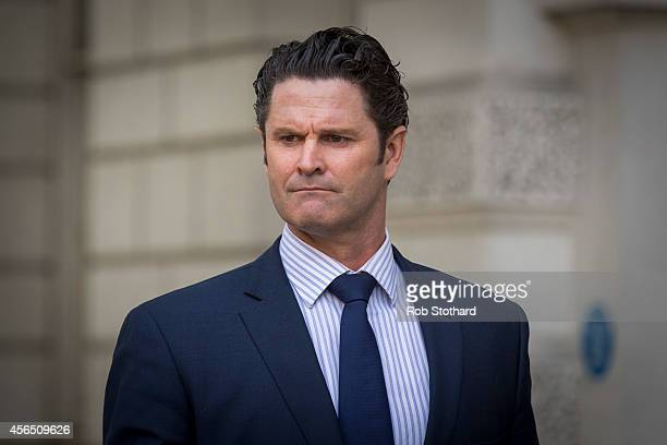 Former New Zealand cricketer Chris Cairns arrives at The City of Westminster Magistrates Court on October 2 2014 in London England The 44yearold...