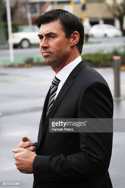 Former New Zealand cricketer Stephen Fleming attends the funeral service for Sir John Graham on August 7, 2017 in Auckland, New Zealand. The former...