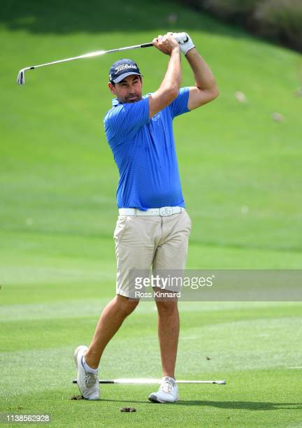 Former New Zealand cricketer Stephen Fleming in action during the pro-am event prior to the Hero Indian Open at the DLF Golf & Country Club on March...