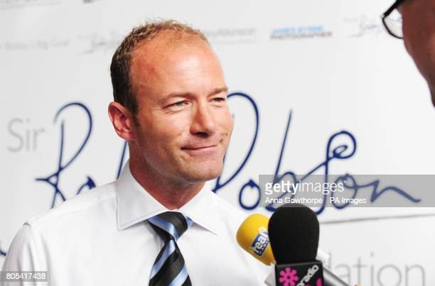 Former Newcastle United and England footballer Alan Shearer has become a patron of the Sir Bobby Robson Foundation during a press conference at the...