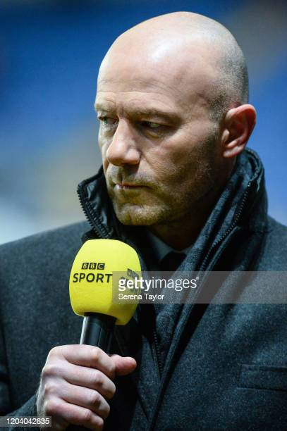 Former Newcastle United footballer Alan Shearer during the FA Cup Fourth Round Replay match between Oxford United and Newcastle United at Kassam...