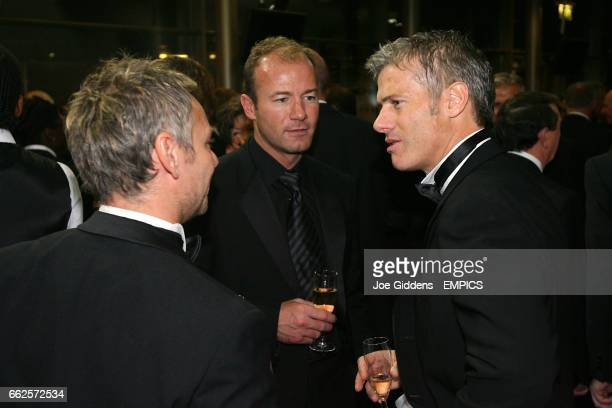 Former Newcastle United players John Beresford Alan Shearer and Rob Lee