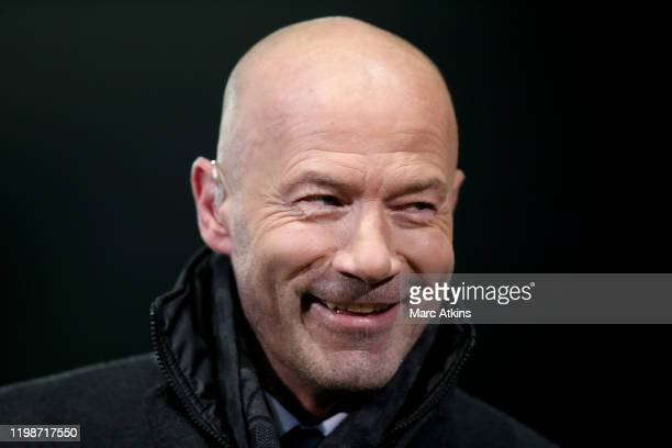 Former Newcastle United striker Alan Shearer during the FA Cup Fourth Round Replay match between Oxford United and Newcastle United at Kassam Stadium...