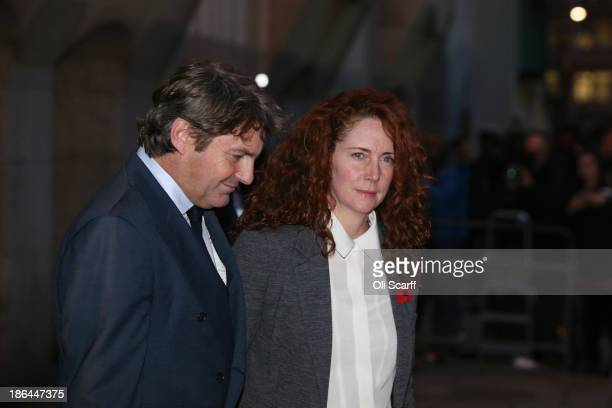 Former News International chief executive Rebekah Brooks and husband Charlie Brooks depart the Old Bailey for the phonehacking conspiracy trial on...