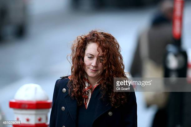 Former News International chief executive Rebekah Brooks arrives at the Old Bailey on November 21, 2013 in London, England. Downing Street's former...