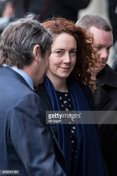 Former News International chief executive Rebekah Brooks arrives at the Old Bailey on February 19 2014 in London England Downing Street's former...