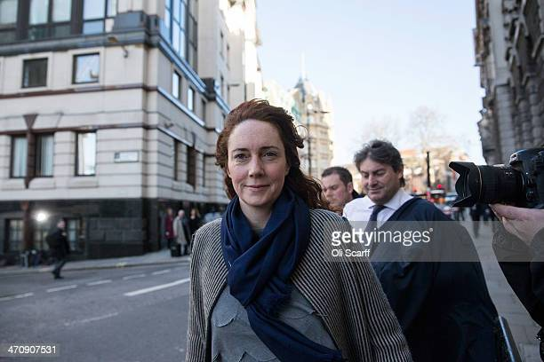 Former News International chief executive Rebekah Brooks arrives at the Old Bailey on February 21 2014 in London England Downing Street's former...