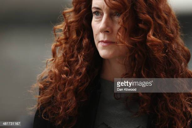 Former News International chief executive Rebekah Brooks arrives at the Old Bailey on March 31 2014 in London England Former government director of...