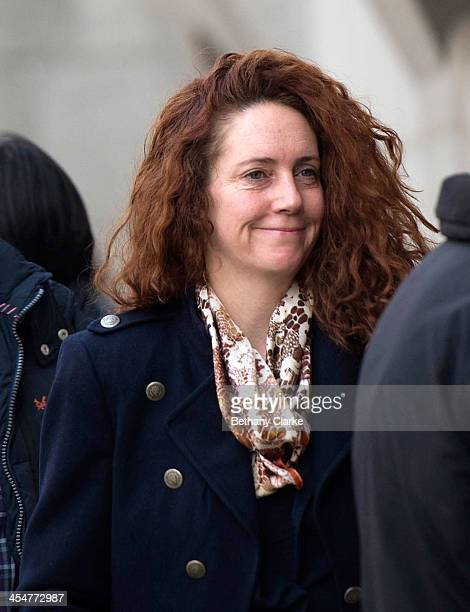 Former News International chief executive Rebekah Brooks arrives for the phone-hacking trial at the Old Bailey on December 10, 2013 in London,...