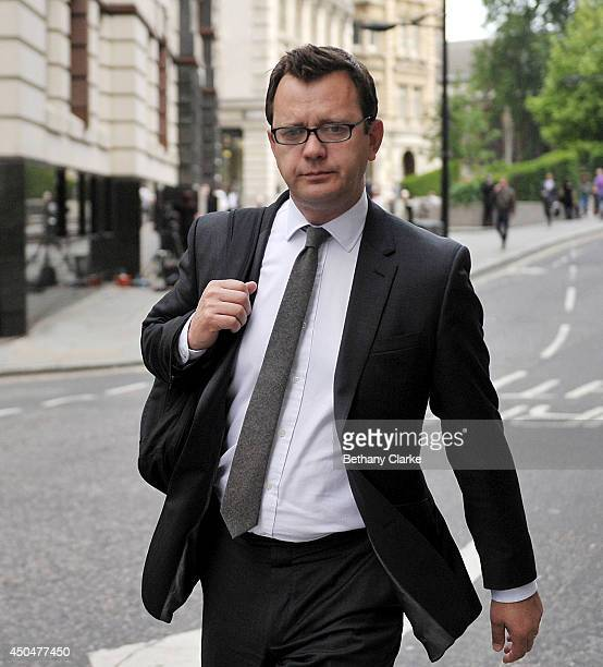 Former News of the World editor and Downing Street communications chief Andy Coulson arrives at Old Bailey on June 12 2014 in London England Downing...