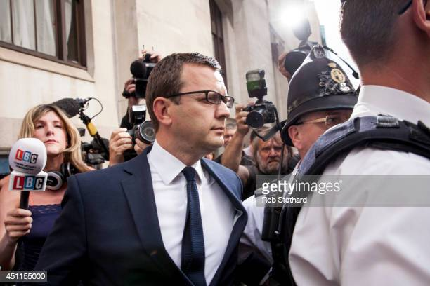 Former News of the World editor and Downing Street communications chief Andy Coulson leaves the Old Bailey on June 24 2014 in London England Former...