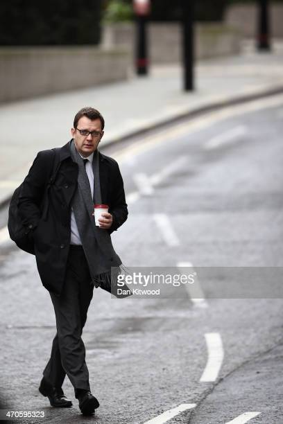 Former News Of The World editor Andy Coulson arrives at the Old Bailey on February 19 2014 in London England Downing Street's former director of...