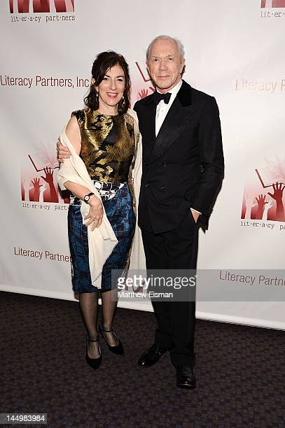 Former Newsweek editor Alexis Gelber and Actor Peter Brown attend the 28th Annual Literacy Partners' Evening of Readings Gala at Frederick P Rose...