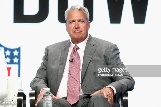 Former NFL coach ESPN analyst Rex Ryan of 'ESPN's Sunday's NFL Countdown' speaks onstage during the ESPN portion of the 2017 Summer Television...