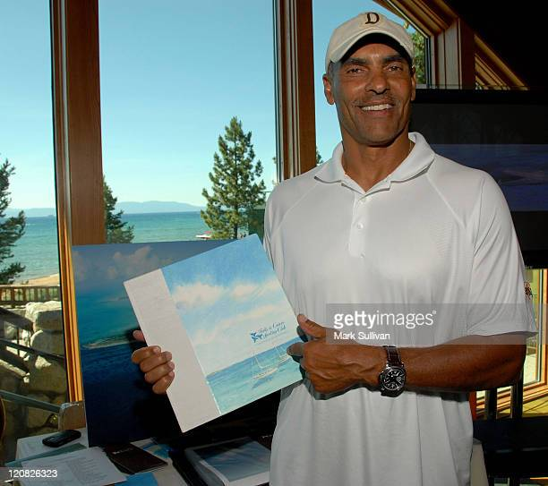 Former NFL coach Herm Edwards in Backstage Creations at the American Century Golf Tournament Day 1 on July 15 2009 in Lake Tahoe Nevada