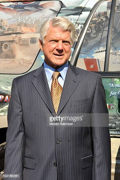 Former NFL Coach Jimmy Johnson attends Crown Royal Jimmy Johnson Launch Crown Royal Operation CAMO Care Package at Magnolia Hall at Piedmont Park on...