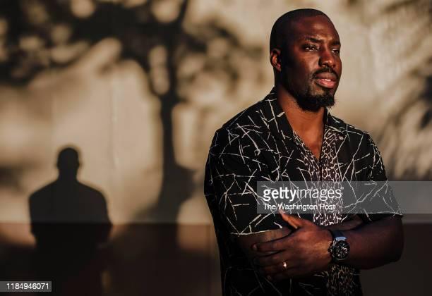 Former NFL cornerback Vontae Davis stands for a portrait in Fort Lauderdale FL on Thursday Nov 21 2019