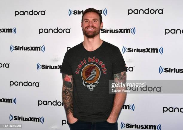 Former NFL defensive end Chris Long visits SiriusXM Studios on October 17, 2019 in New York City.