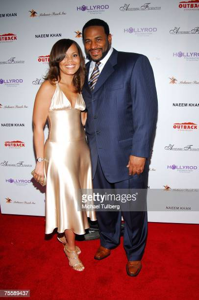 Former NFL football great Jerome Bettis and his wife Trameka attend the Designcare 2007 celebrity benefit thrown by actress Holly Robinson Peete and...