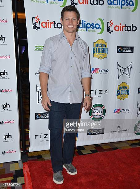 Former NFL player Adam Archuleta arrives at the Raising the Stakes for Cerebral Palsy Celebrity Poker Tournament at Planet Hollywood Resort Casino...