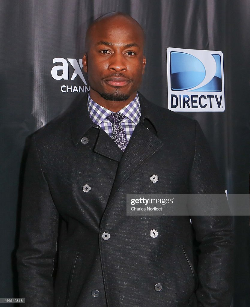 Former NFL player Akbar Gbajabiamila attends the DirecTV Super Saturday Night at Pier 40 on February 1, 2014 in New York City.