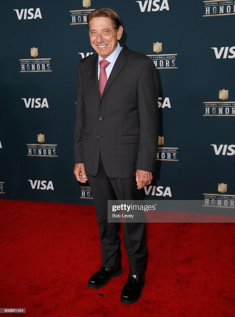 Former NFL player and actor Joe Namath attends 6th Annual NFL Honors at Wortham Theater Center on February 4, 2017 in Houston, Texas.