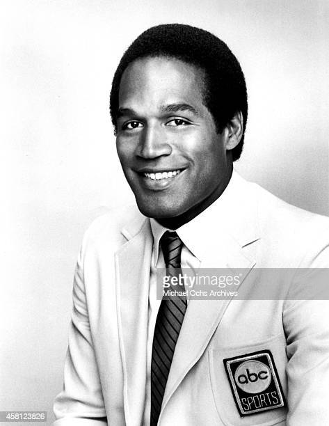 Former NFL player and TV announcer O.J. Simpson poses for a portrait in this publicity still for Monday Night Football on ABC Sports circa 1984.