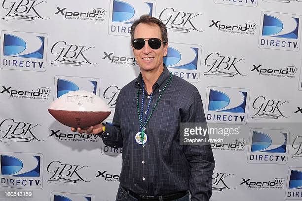 Former NFL player and TV personality Cris Collinsworth attends GBK and DirecTV Celebrity Beach Bowl Thank You Lounge at DTV SuperFan Stadium at Mardi...