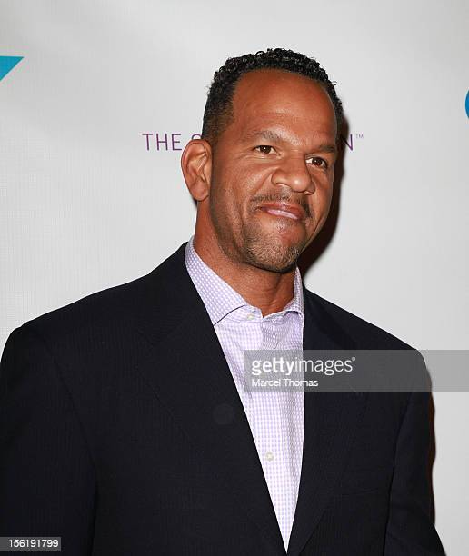 Former NFL player Andre Reed attends the 8th All Star Celebrity Classic benefiting the Mr October Foundation for Kids at Cosmopolitan Hotel on...