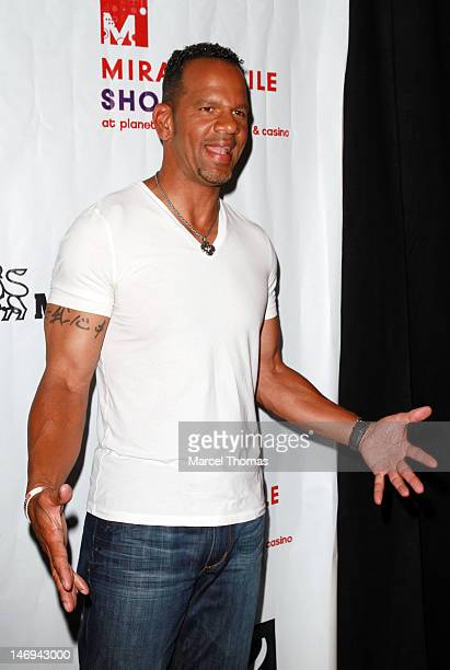 Former NFL player Andre Rison attends the 12th Annual Sports Dream Bowl Benefit at Texas Station Texas Star Lanes on June 23 2012 in Las Vegas Nevada