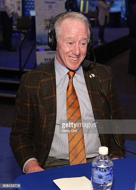 Former NFL player Archie Manning attends SiriusXM at Super Bowl 50 Radio Row at the Moscone Center on February 4 2016 in San Francisco California