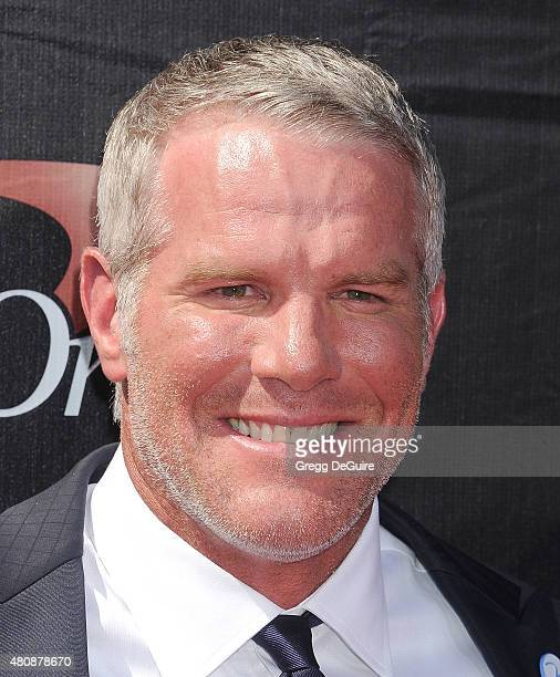 Former NFL player Brett Favre arrives at The 2015 ESPYS at Microsoft Theater on July 15 2015 in Los Angeles California