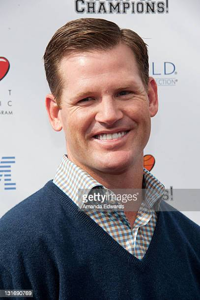 Former NFL player Cade McNown arrives at the Yahoo Sports Presents A Day Of Champions event at the Sports Museum of Los Angeles on November 6 2011 in...