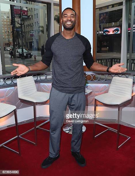 Former NFL player Calvin Johnson visits Hollywood Today Live at W Hollywood on November 16 2016 in Hollywood California