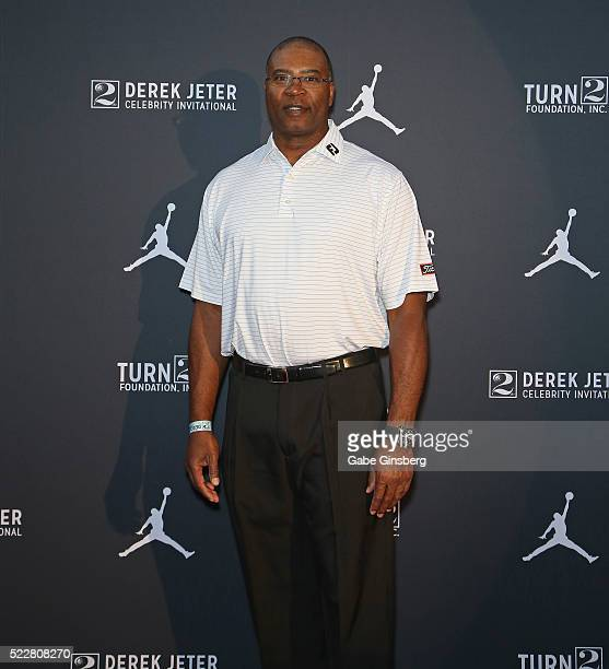 Former NFL player Chris Doleman arrives at the Liquid Pool Lounge for the kickoff of Derek Jeter's Celebrity Invitational at the Aria Resort Casino...