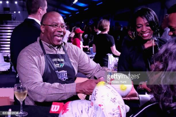 Former NFL player Chris Doleman attends the Taste Of The NFL 'Party With A Purpose' at Houston University on February 4 2017 in Houston at University...