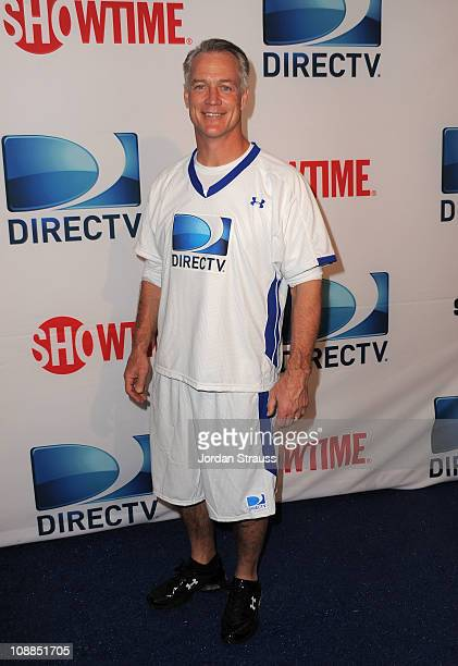 Former NFL player Daryl Johnston arrives at DIRECTV's Fifth Annual Celebrity Beach Bowl at Victory Park on February 5 2011 in Dallas Texas