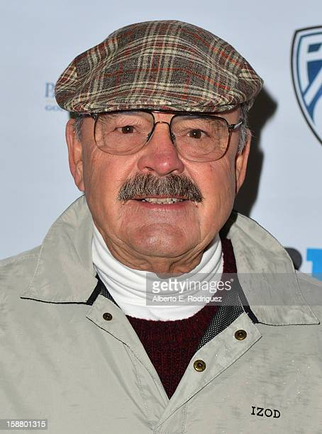Former NFL player Dick Butkus arrives to the innaugural Rose Bowl Game Golf Classic at Industry Hills Golf Course on December 29 2012 in City of...