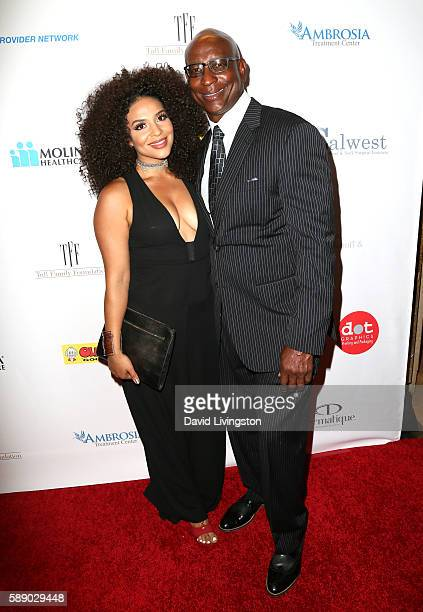 Former NFL player Eric Dickerson and Erica Dickerson attend 16th Annual Harold and Carole Pump Foundation Gala at The Beverly Hilton Hotel on August...