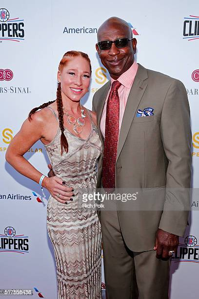Former NFL player Eric Dickerson and Penny Sutton attend the CedarsSinai Sports Spectacular at W Los Angeles – West Beverly Hills on March 25 2016 in...