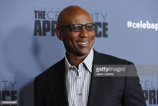 Former NFL player Eric Dickerson attends the press junket For NBC's Celebrity Apprentice at The Fairmont Miramar Hotel Bungalows on January 28 2016...