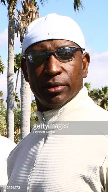 Former NFL player Eric Dickerson during the Lawrence Taylor Golf Challenge at the Phoenician Resort and Spa January 30 2008 in Scottsdale Arizona