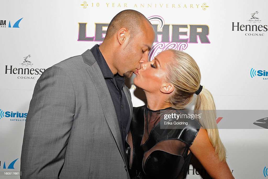 Former NFL player Hank Baskett and wife Kendra Wilkinson attend the Tenth Annual Leather & Laces Super Bowl Party on February 1, 2013 in New Orleans, Louisiana.
