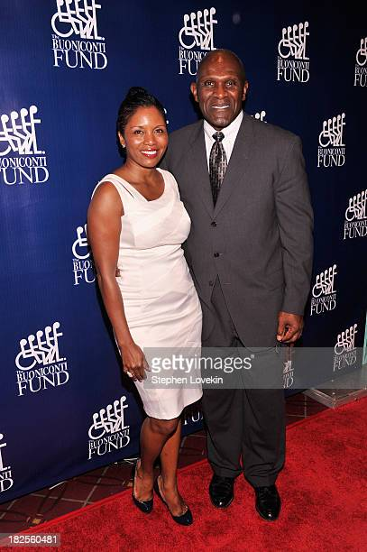 Former NFL Player Harry Carson and Maribel Carson attend the 28th Annual Great Sports Legends Dinner to Benefit The Buoniconti Fund To Cure Paralysis...