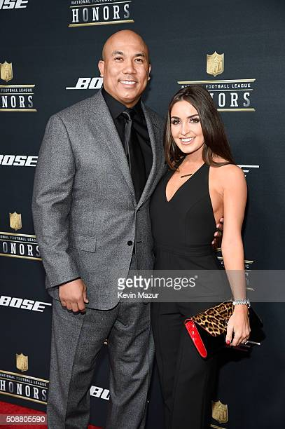 Former NFL player Hines Ward and Lindsey GeorgalasWard attend the 5th annual NFL Honors at Bill Graham Civic Auditorium on February 6 2016 in San...