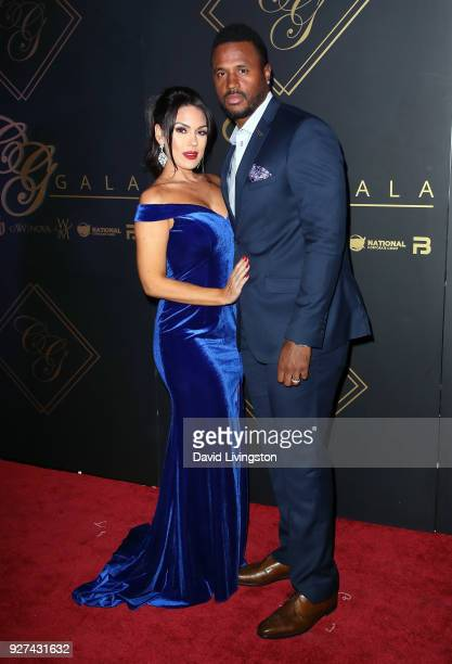Former NFL player James Anderson and wife model Carissa Rosario attend the City Gala 2018 at Universal Studios Hollywood on March 4 2018 in Universal...