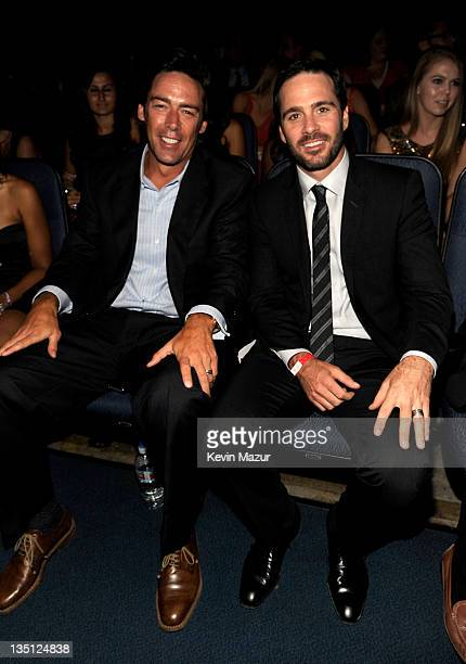 Former NFL player Jason Sehorn and NASCAR driver Jimmie Johnson attend The 2011 ESPY Awards held at the Nokia Theatre LA Live on July 13 2011 in Los...